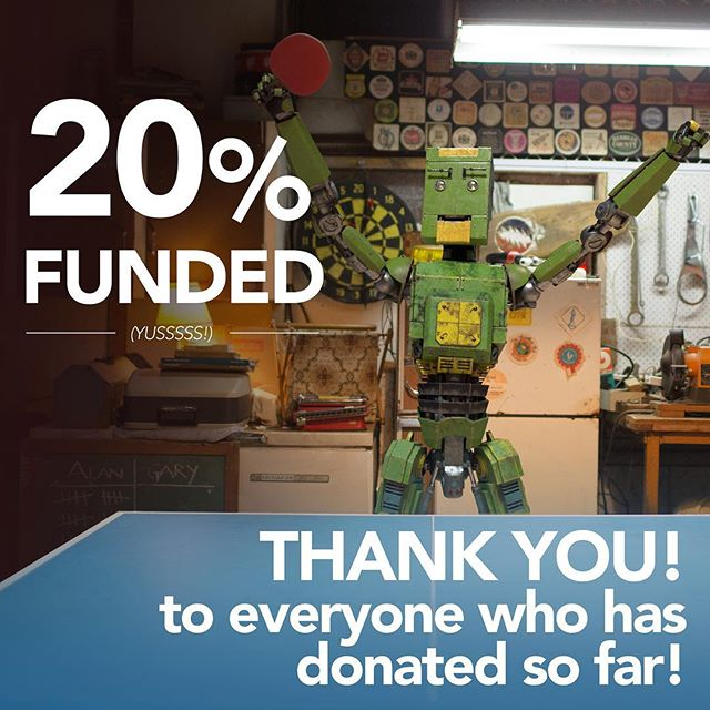 Thank you so much to everyone who has donated so far! #grateful #thankyou #boosted #longwaytogo #twentyonepointsfilm #vfx #garytherobot