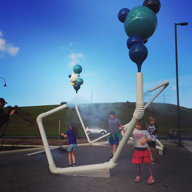 On shoot yesterday with these little munchkins and the talented Jared Kahi at Oh Seung Yul's latest art installation, Albany Stadium Pools