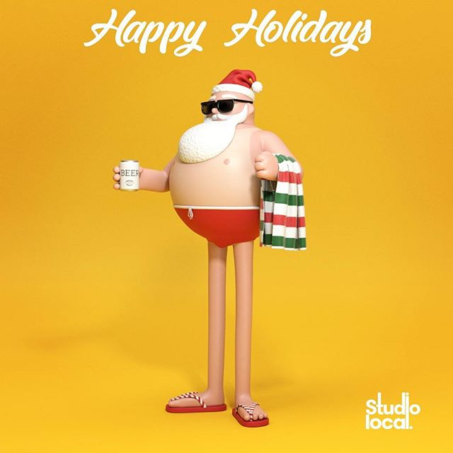 Happy holidays everyone!  Stay cool this break and we'll see you in the new year. #summersanta #merrychristmas #holidaytime