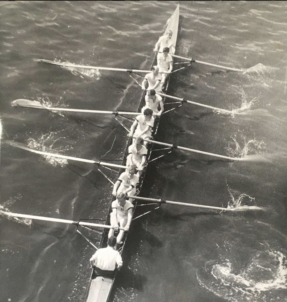 Barts BC 'A' at Chiswick Amateur Regatta in 1950.