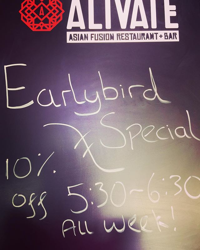 We are offering 10% discount to all diners between 5:30-6:30 all week in celebration of the festival of colour. After all the early bird catches the Asian fusion worm. #thatsasayingright ? #earlybird #earlybirdcatchestheworm #asianfusion #festivalofcolour #lovewanaka #onwanaka