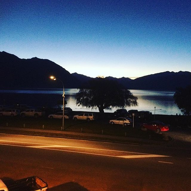 Snapped this shot the other evening. Never get tired of this mountain sunset. Happy Hour 5-6pm everyday. Bring on the snow! #alivatewanaka #wanaka #happyhour