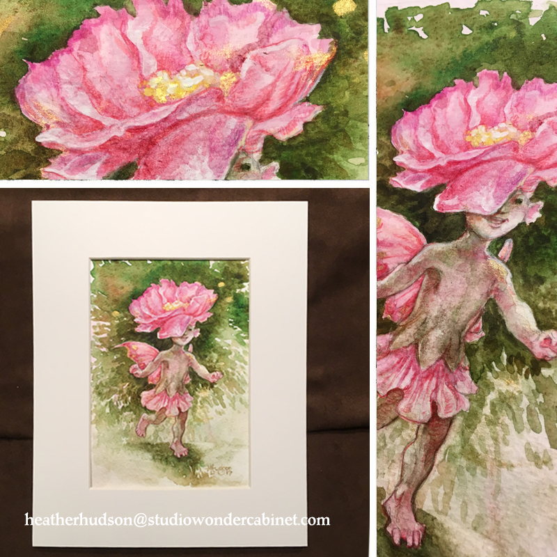 One pink and sparkly Camellia Fay, neatly matted...