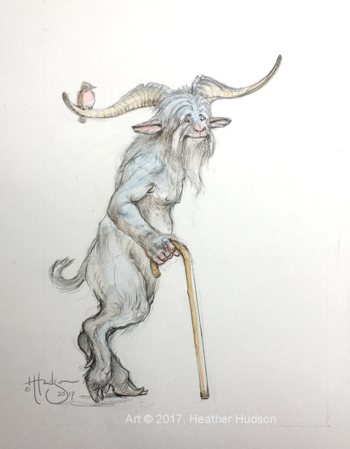 Carrying those horns around takes most of his time at his age, but it beats the alternative...