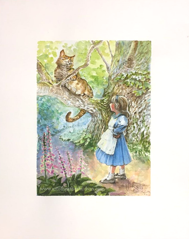 "This piece , ""Alice and the Cheshire Cat""  is available in the CAC's ""Through the Looking Glass"" art auction this week."