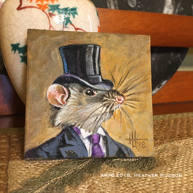 Mr. Rat is a very distinguished gentleman!  Perhaps he is a lawyer, or involved with banking!