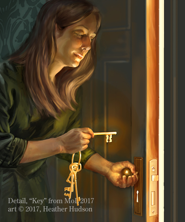 "Love can open a door or love can break your heart…  Month of Love art from another year, ""Key."""