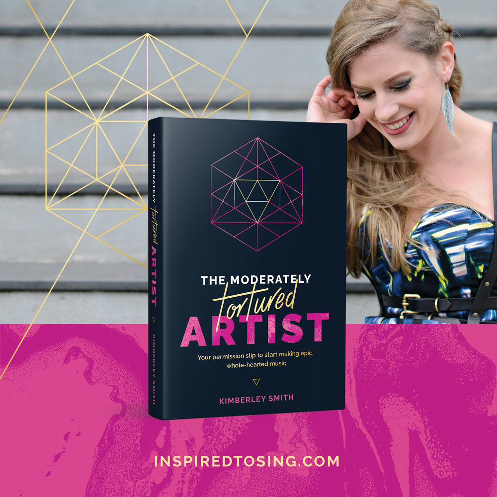 The Moderately Tortured Artist - Your permission slip to start making epic, whole-hearted music. http://moderatelytorturedartist.com #moderatelytorturedartist #musicbook #musician #singer