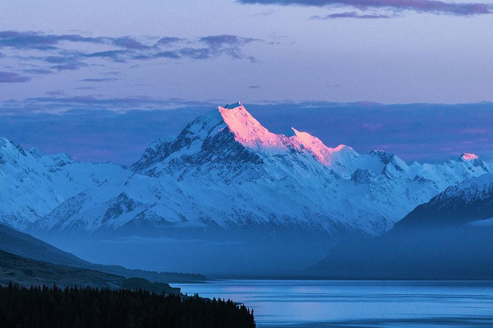 Aoraki Dawn - Sunrise at Mount Cook