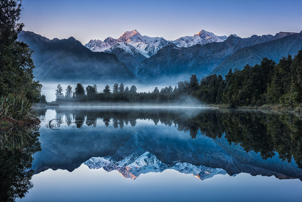 Lake Matheson, Blue Hour
