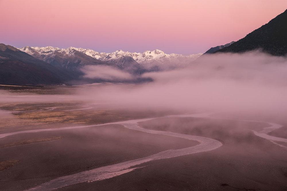 Morning Mist, Waimakariri River