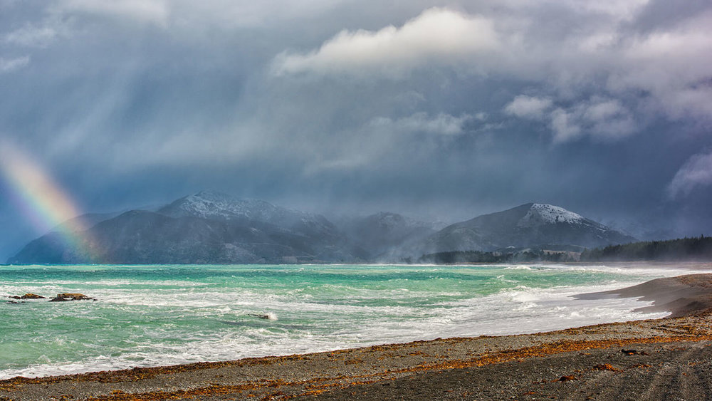 Snow Storm, South Bay Kaikoura