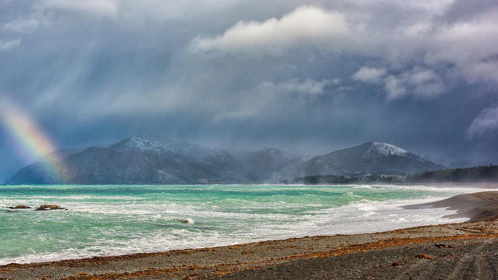 Snow Storm, South Bay Kaikoura