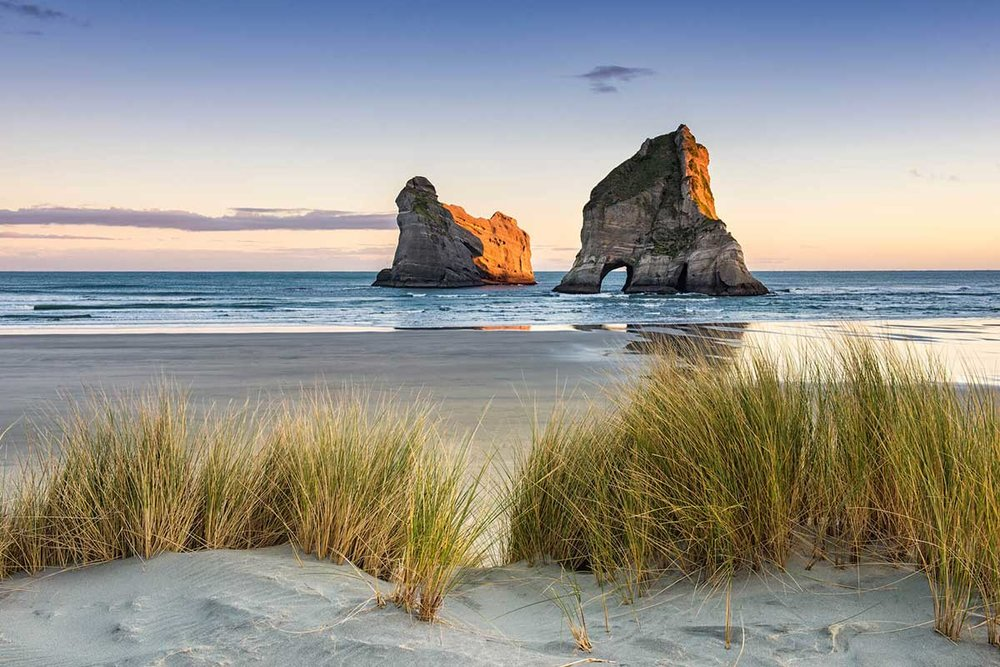 Wharariki Beach, Sunrise