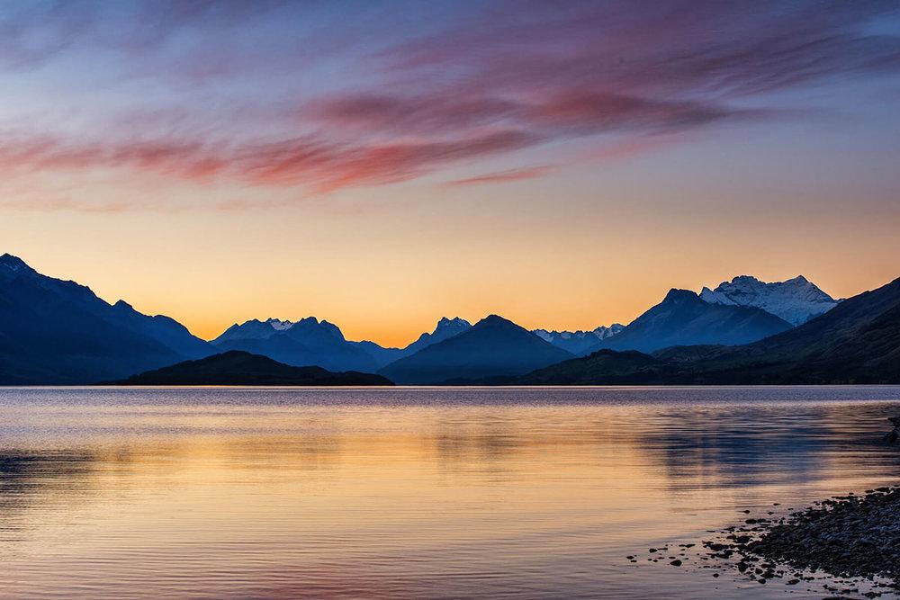 Lake Wakatipu Sunset Pastels