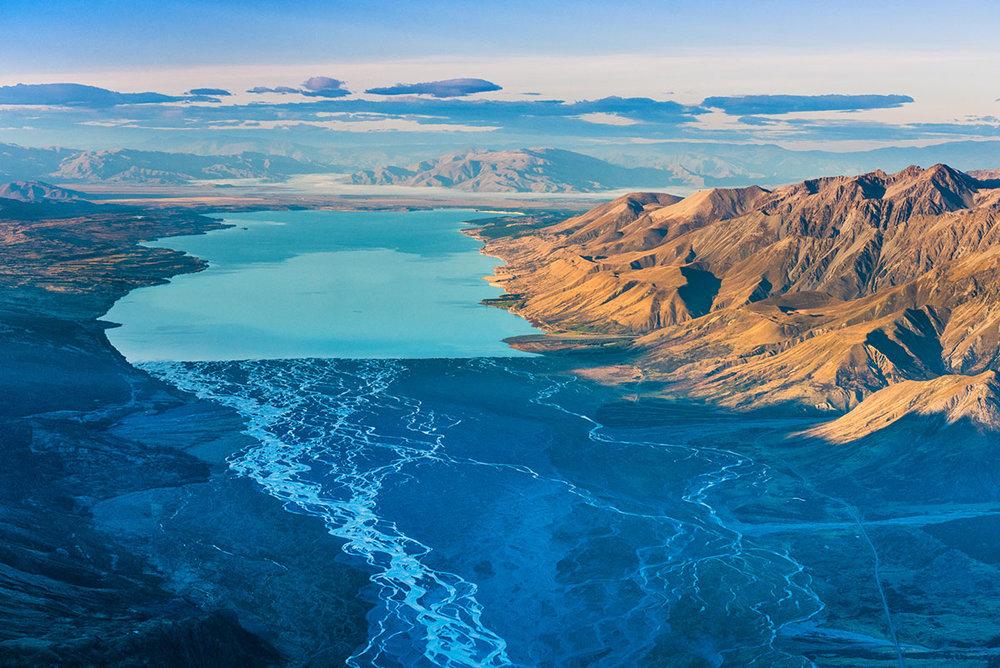 Lake Pukaki and the Tasman River