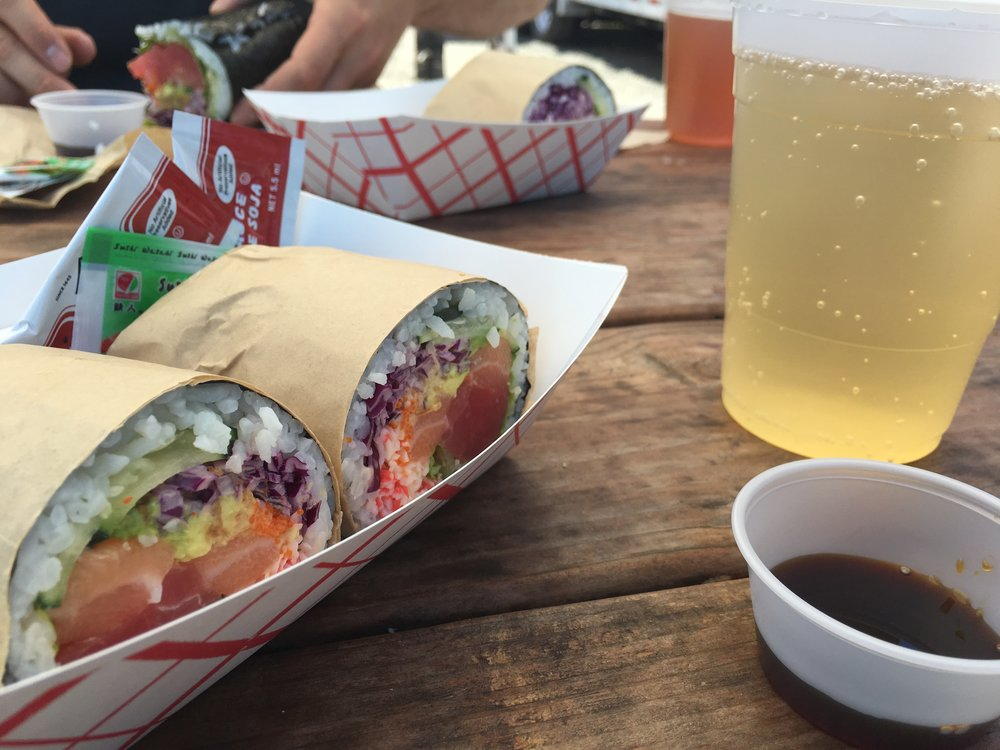 Day date! Food cart sushi burrito + cider