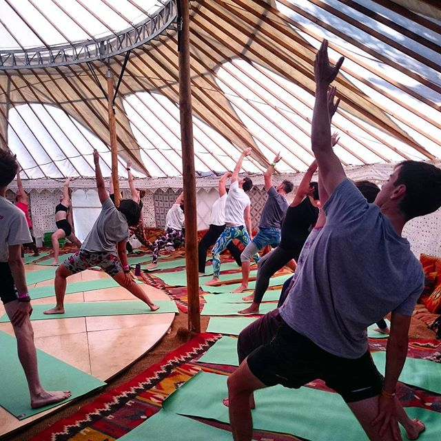 So many wonderful #yoga sessions @wildernesshq #wildwellbeing #warrior #stretch #pose #play #pamper #party