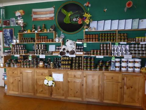 The Tasmanian Honey Company outlet at Perth, Tasmania. Interesting and educational displays with a comprehensive array of hive products