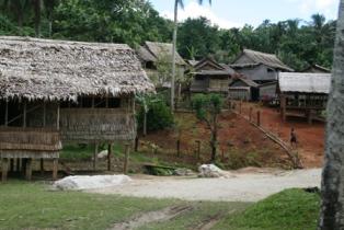 Typical village in Malaita, Solomon Islands