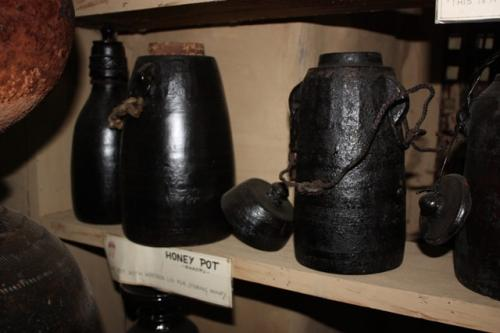 Honey pots inside the Gurung Museum, Ghandruk