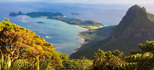 Stunning Lord Howe Island, from the top of Mt Gower. Photo courtesy of Jack Shick