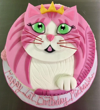 Glamour Cat Themed Cake