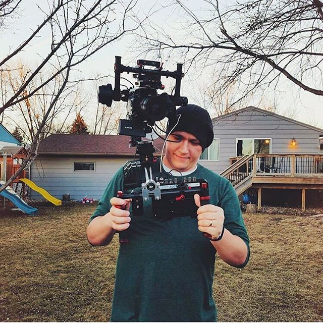 @ludemanproductions rocking our DAISHO gimbal clamp on his #djironin
