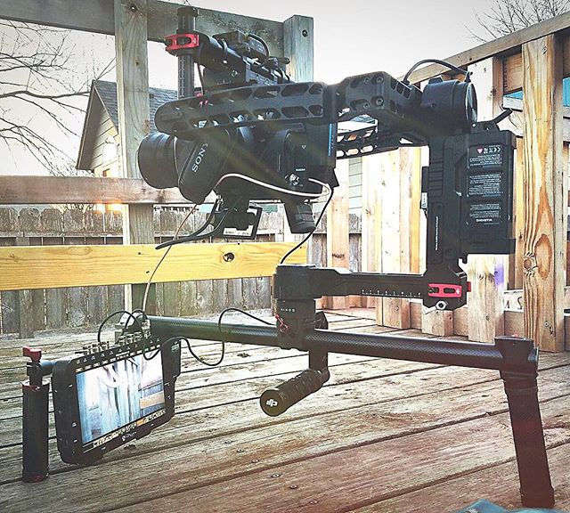 @ludemanproductions using the DAISHO gimbal clamp on his fully loaded #djironin