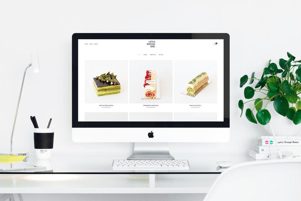 Little Matcha Girl.Online Store Design by Goya Studio