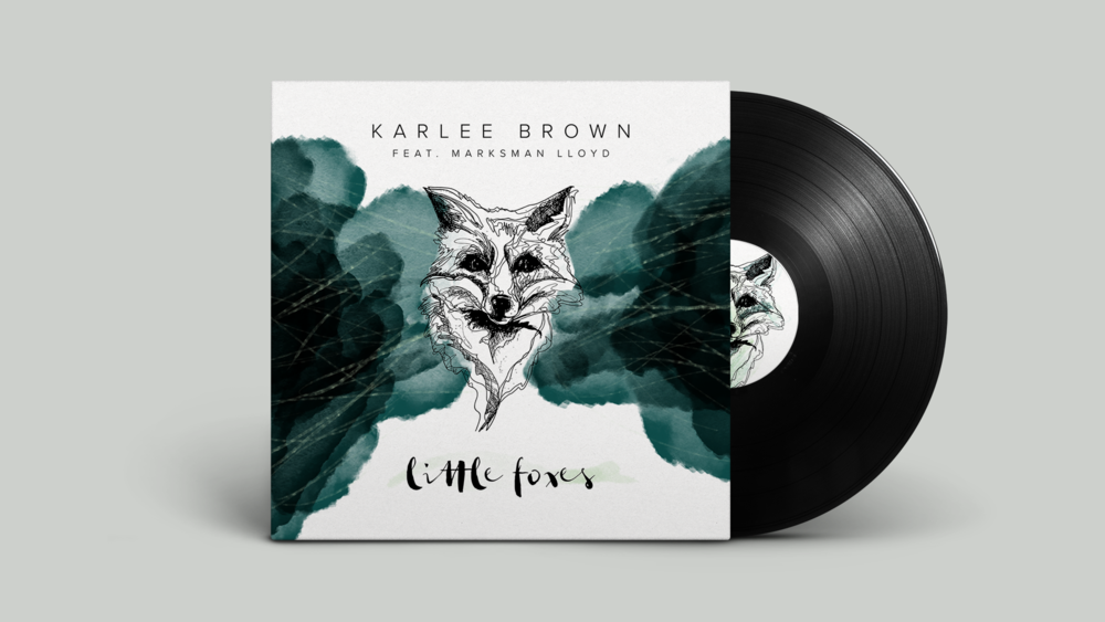 Karlee Brown Feat Marksman Lloyd. Little foxes iTunes album cover. Goya Studio. Perth.
