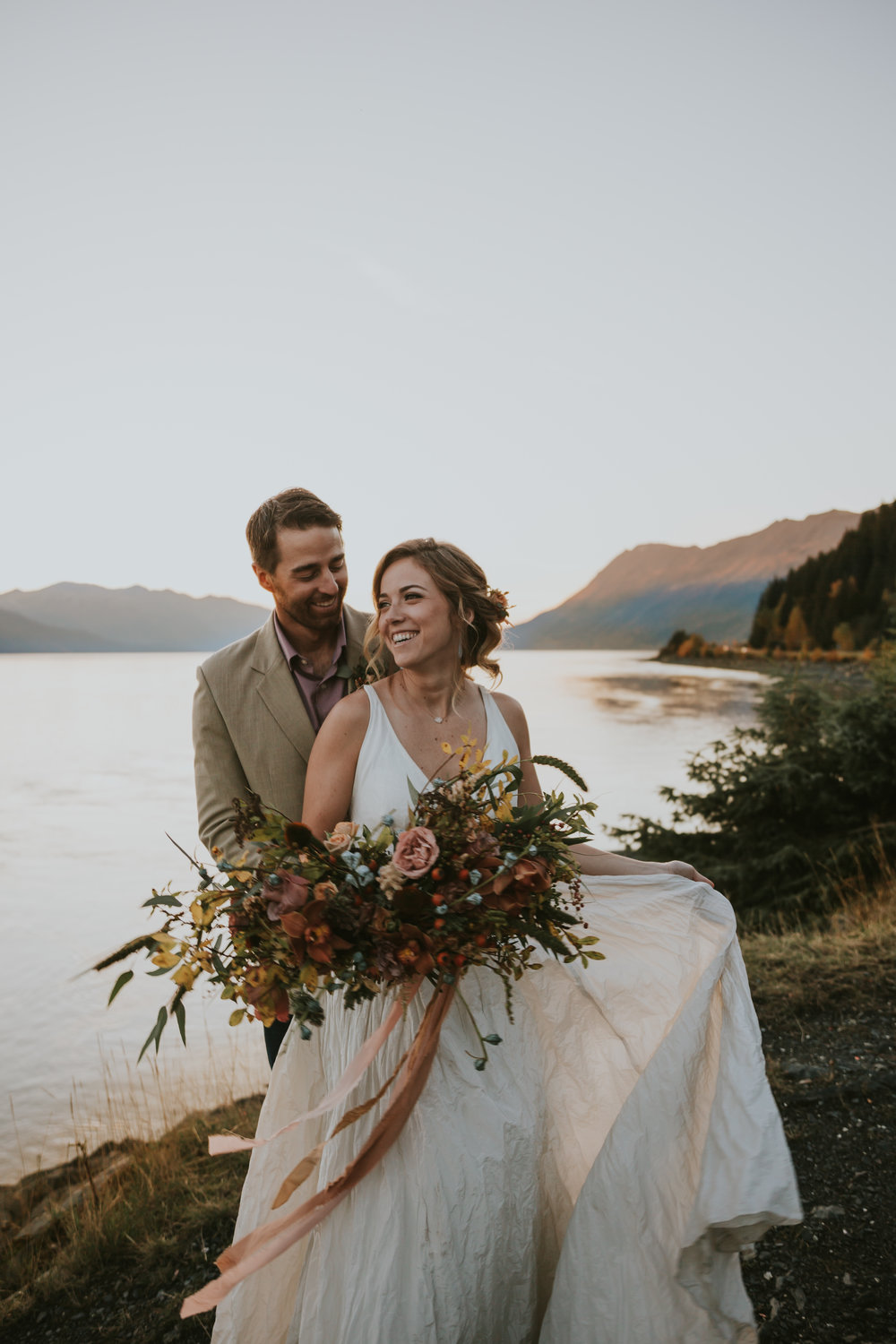 LINDSEY AND ERIC WEDDING - GIRDWOOD, ALASKA