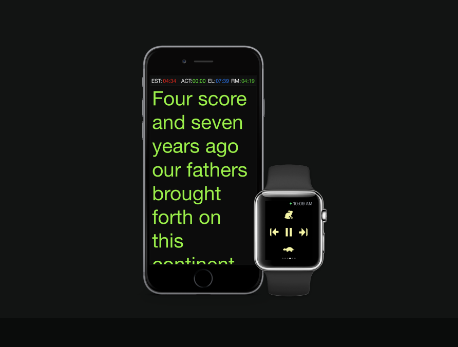 Apple Watch as a remote - There is also an app for the Apple Watch, which can function as a remote device to control the script.