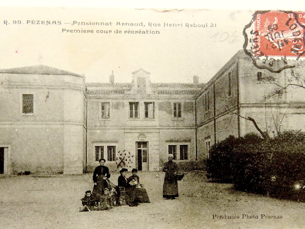 Convent: 1909 postcard found at flea market