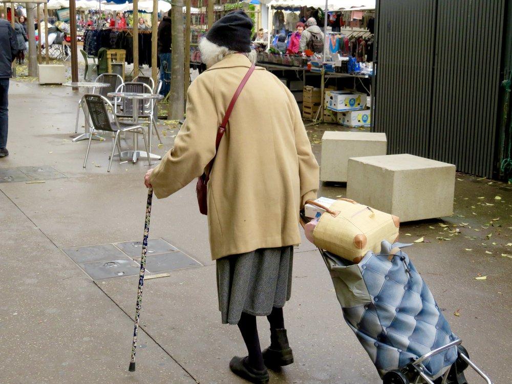 La Madam, a regular shopper at the Saturday Marché...