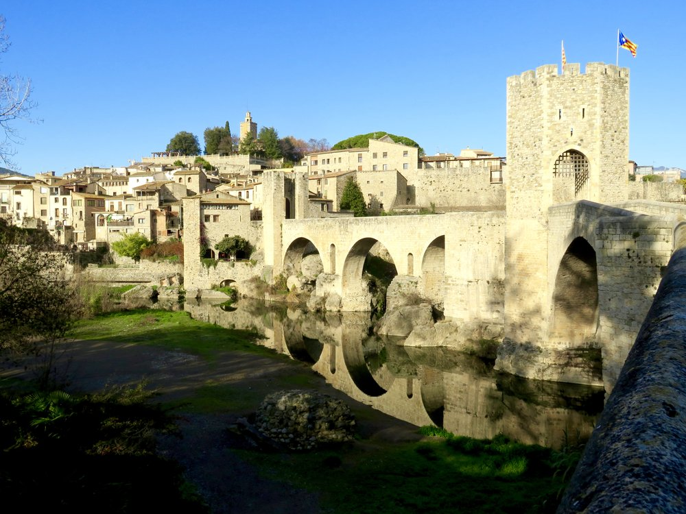 Catalan village of Besalú, Spain