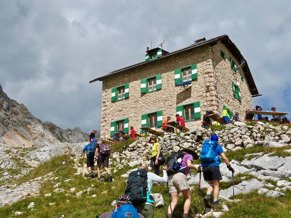 Heading to lunch at the rifugio...