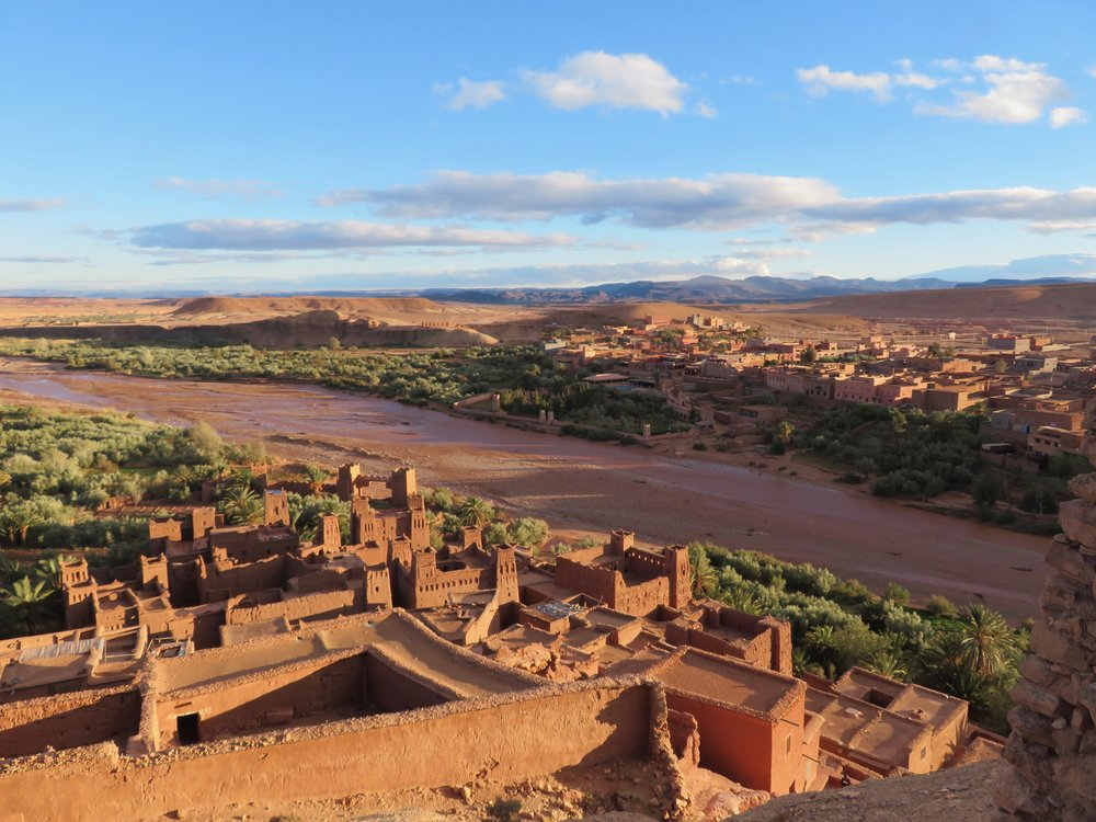 The grand kasbah of Ait Benhaddou, unchanged since the 11th century…