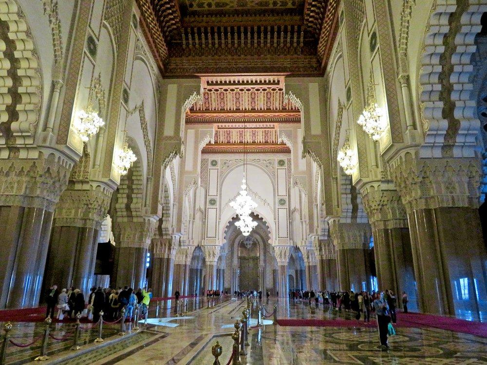 The huge Hassan II Mosque, Casablanca