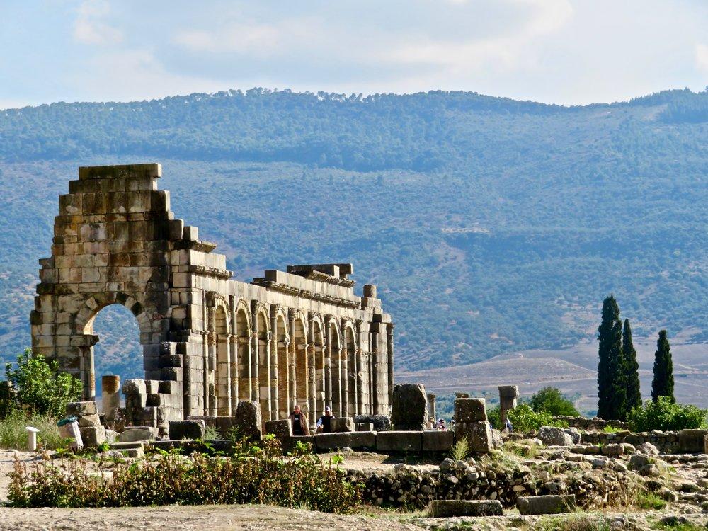 The ancient Roman Ruins of Volubilis