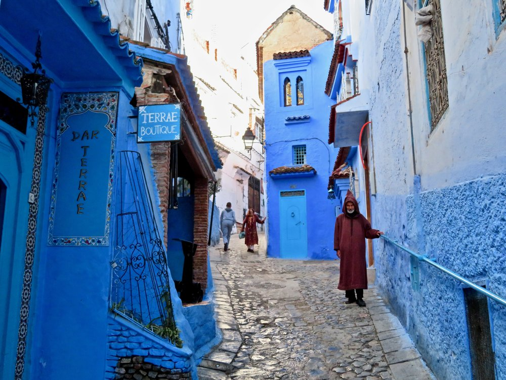 Fifty shades of blue-on-blue in Chefchaouen