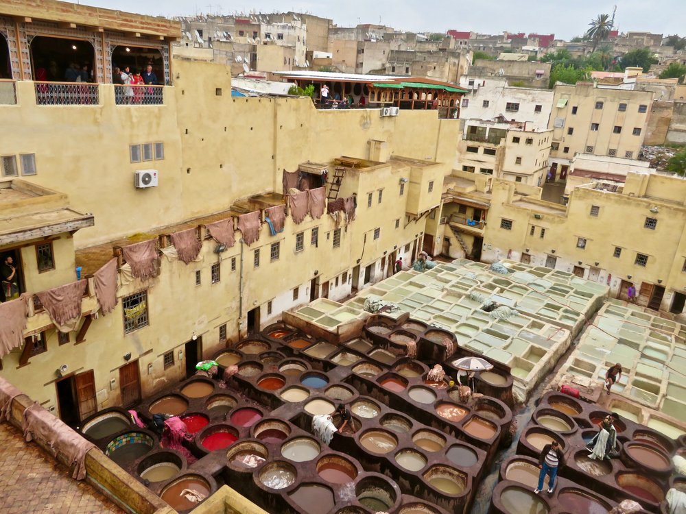 The Famous Chouwara Tanneries of Fes