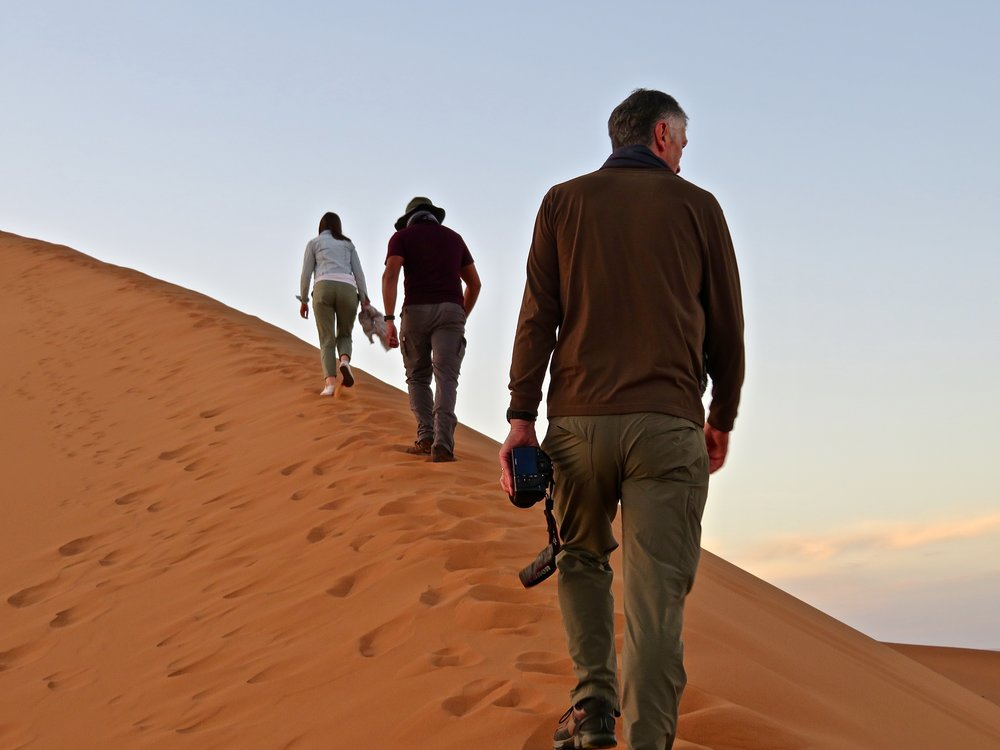 Post- camel ride hike