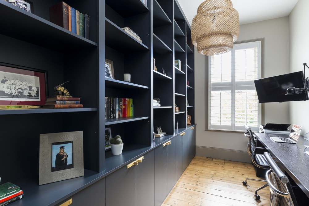 Majestic, Full Height Bookcases Provide Ample Storage In This Elegant Home  Office. Matt Spray