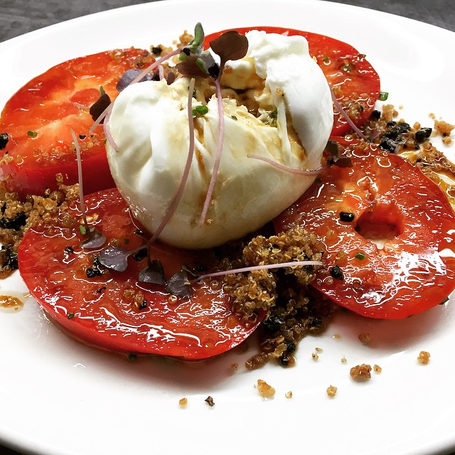 Oxheart Tomato & Burrata at The Boathouse on Blackwattle Bay