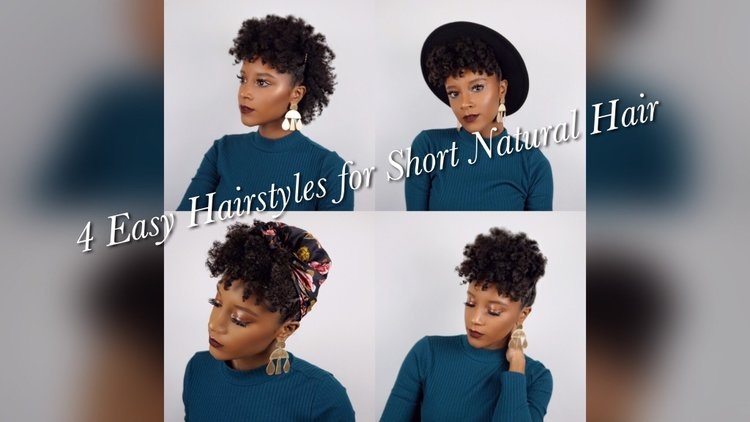 4 Easy Hairstyles for Short Natural Hair Tutorial — Brianna Lucas