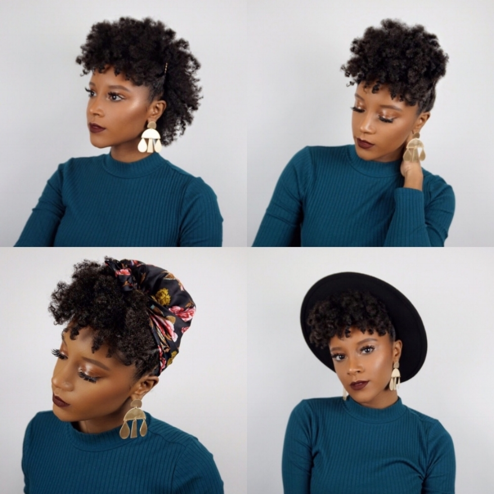 4 Easy Hairstyles For Short Natural Hair Tutorial Brianna Lucas