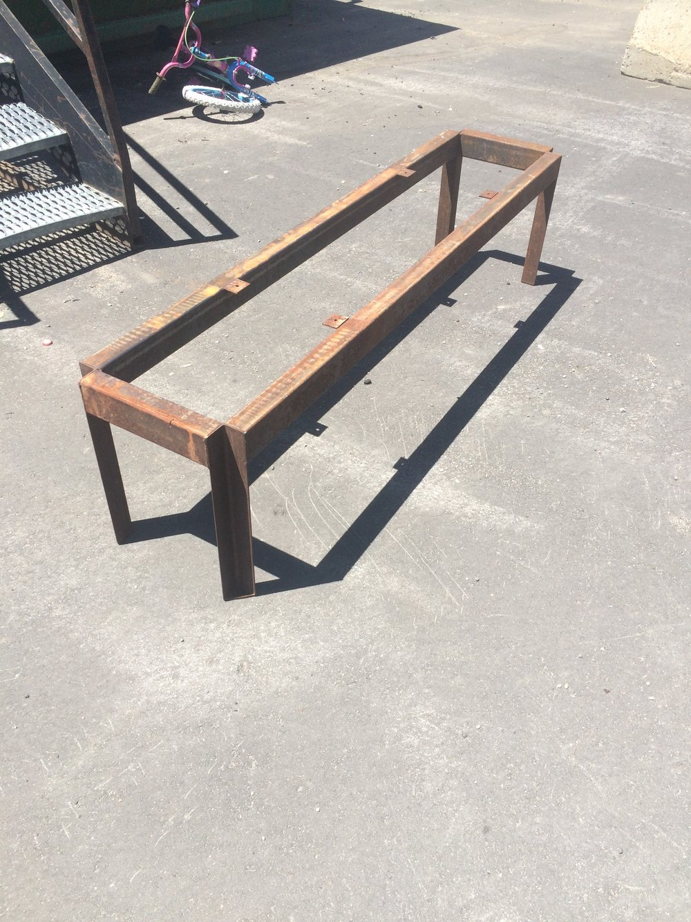 salvaged bench from the recycling center
