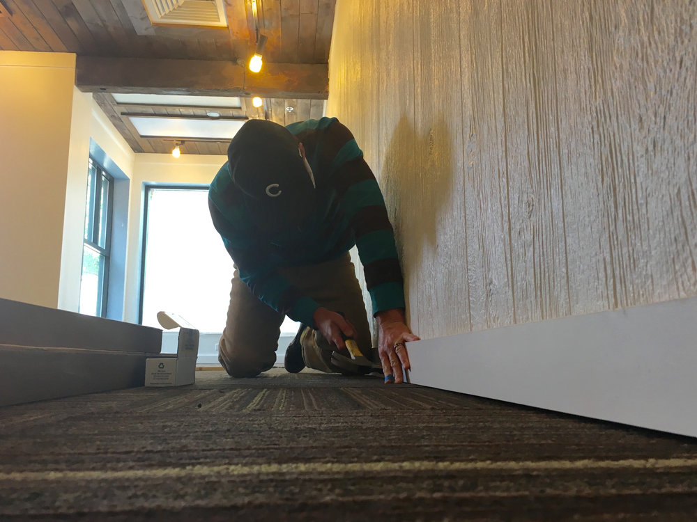 installing baseboards