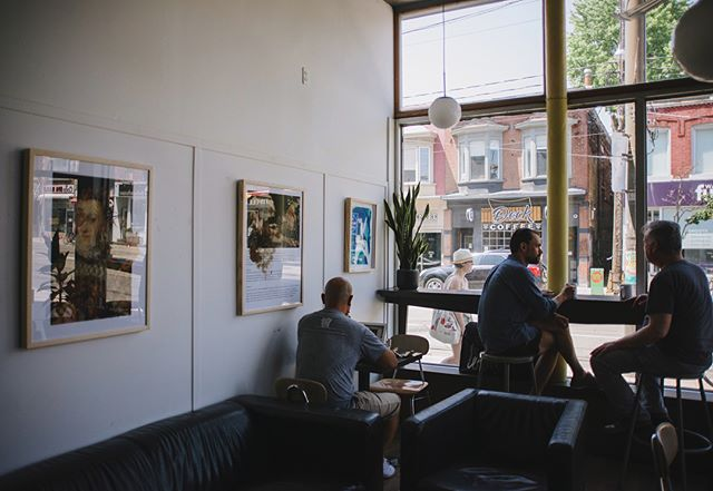 Enjoy some of the best coffee you've ever had while viewing some of my art this month at @mercuryespresso ! I'm honoured to know the amazing @miss_duran for letting myself and @ladyg3n curate this fun show! #coffee #art #photography #toronto #blogto
